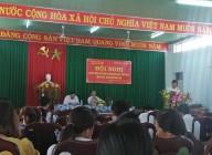 Đảng viên tham gia Sơ kết Đảng năm 2019.